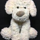 "Kellytoy Puppy Dog Ivory White Cream Retriever Plush Ruffle Stuffed Animal 15"""