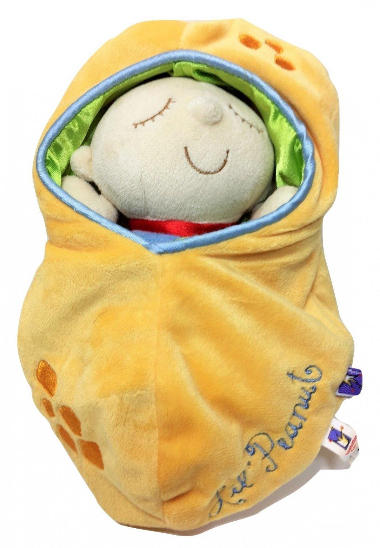 """Manhattan Toy Lil' Peanut Snuggle Pod First Baby Boy Doll Cozy Sleep Sack 10"""""""