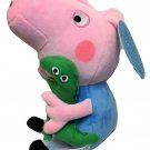 "RARE Peppa Pig George's Green Dinosaur Soft Stuffed Plush Dolls 12"" NWT"