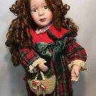 "Santa's Best RAREST Vintage 1992 Motionette Animation Red Head Hair Girl 25"""