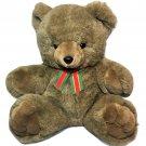 "Vtg Teddy Bear Brown Lovey Security XLARGE Plush Stuffed Animal 18"" Sitting"