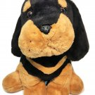 Kellytoy Rottweiler Plush XLARGE Stuffed Animal Black Brown Soft Cuddly Toy 19""