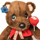 "Applause Tootsie Pop Teddy Bear Vintage Stuffed Animal Plush 11"" Sitting Brown"