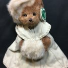 Bearington Bear Anastasiya Plush Brown Stuffed Animal Ivory Faux Fur Muff 1745