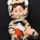 Santa's Best RARE Tiger Boy Halloween Kids Animated Lighted Pumpkin Works!! RARE