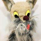 "Vintage Schnauzer Puppy Dog Gray RARE Sterling Circus Jamboree Plush RARE 15"""