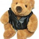 Vintage Russ Peanut Butter Teddy Bear Plush RARE Brown Sitting Stuffed Animal