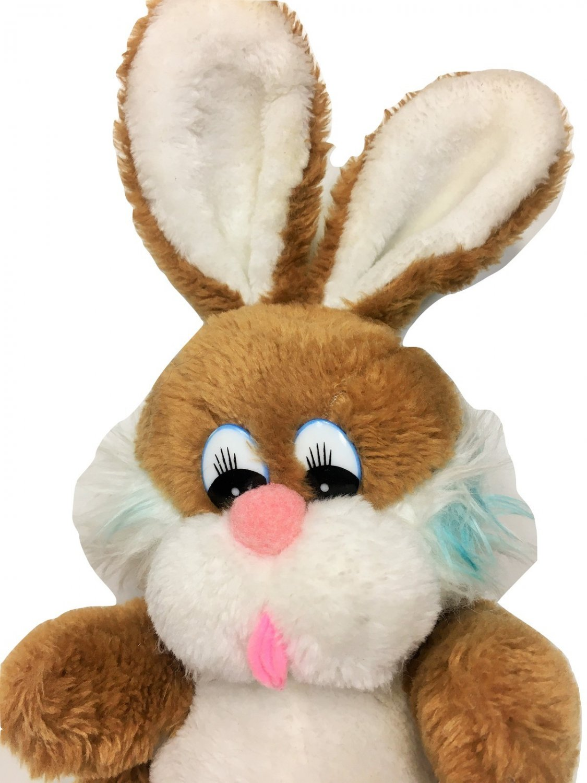 Daekor Vintage Pot Belly Bunny Rabbit Plush Stuffed Animal Brown 1979 Furry Toy