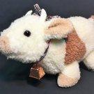 Gund Cow RARE Bull Horns Nubby Plush 1986 Baby Toy Cream Brown Stuffed Animal