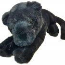 "RARE Heunec Black Panther Big Jungle Cat Plush Mauritius Barcelona Plush Toy 28"""
