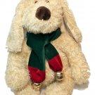 RARE Commonwealth Terrier Dog JUMBO Plush Cream White Puppy Bow Bells Scarf