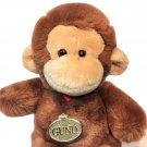 Gund Vintage 1986 Plush Monkey Chimp Brown Stuffed Animal Pet #9015 Soft Toy 8""