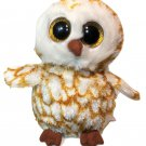 "Ty Beanie Boos SWOOPS Barn Owl Stuffed Animal Plush Toy 6"" Glitter Eyes No TAG"