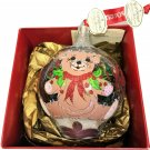 Waterford Baby's First Teddy Bear Snowball Glass Christmas Heirloom Ornament