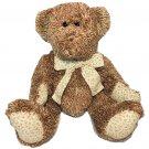 "Circo Teddy Bear Plush Brown Stuffed Animal Floral Flower Bow Feet 13"" Seated"