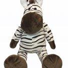 "Babies R Us Wild Zebra RARE & DISCONTINUED Black White 24"" Plush Stuffed Animal"