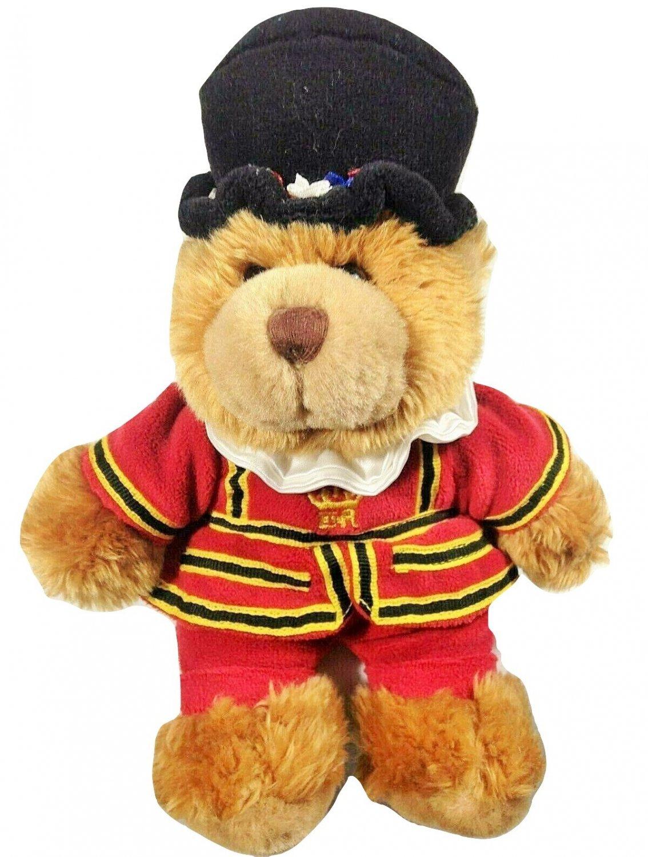 "Keel Toys British Teddy Bear Beefeater Yeoman Great Britain Royal Guard 9"""