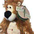 RARE Kodiak Zak Teddy Bear First and Main Plush Brown Stuffed Animal Beanie NWT