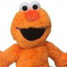 "Sesame Street Neon Orange Elmo Plush Muppet RARE Stuffed Animal Colorful Toy 15"""