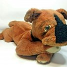 RARE Vintage Boxer Plush Dog Big Jumbo Brown Stuffed Animal 2 Feet Laying Down