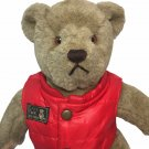 "Gund Bialosky Save The Bears Teddy Bear Plush Brown 14"" Stuffed Animal Red Vest"