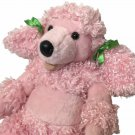 Build A Bear Pink Poodle Puppy Dog Stuffed Animal Curly Fur Soft Toy 18""