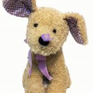 "Bath Body Works Butter Flutter Puppy Dog Tan Plush Purple Butterfly Bow 13"" TAG"