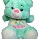 "Commonwealth Teddy Bear Plush Super Star RARE Mint Green Stuffed Animal 7"""