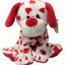 Ty Pluffies Harts Puppy Dog Plush Beanie Babies Baby Red Hearts Stuffed Pup TAG