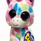 "Ty Beanie Boos Wishful Purple Pink Unicorn Plush 2013 Stuffed Animal Toy 6"""