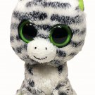 "Ty Beanie Boos Zig Zag Zebra Plush Stuffed Animal Toy Solid Green Eyes 6"" - 2011"