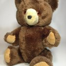 """Vintage Kuddle Toy Teddy Bear Plush RARE Fully Jointed Brown Stuffed Animal 15"""""""
