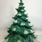 "Atlantic Mold Ceramic Christmas Holiday Tree Flocked White Tips 13.5"""