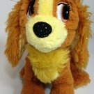 """Disney Lady Plush Lady and the Tramp Dog Tote a Tail Sparkle Bean Plush 8"""""""