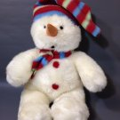 """Applause Snowman Plush by Russ White Holiday Stuffed Hat and Scarf 12"""""""