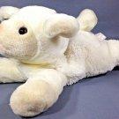 Bearington Baby Collection Lamby Lamb Lovey Plush Ivory White Floppy Bean Bag