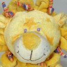 Stephan Baby Lion Yellow Plush Toy Cuddle Doll Stars Stripes Embroidered Eyes