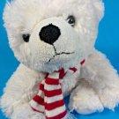 "White Polar Bear Plush Animal Adventure Stuffed Animal Soft Toy Teddy 9"""