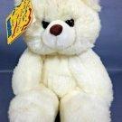 """PRESTIGE Teddy Bear Big Foot Plush White Stuffed Animal Lovey Baby Toy 8"""" TAG"""