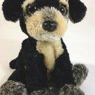 "Aurora Terrier Puppy Dog Plush Bean Bag Black Gray Mutt Stuffed 8"""