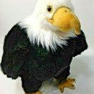"Aurora American Bald Regal Eagle Plush Stuffed Animal Bird USA Rep 11"""