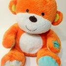 """Carters Animated Orange Monkey Plush Singing Child Baby Learning Development 10"""""""