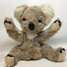 "Knickerbocker Koala Bear Plush Animals of Distinction Furry Grey Vintage 12"" Toy"