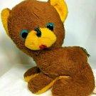 "Happiness Aid Teddy Bear Cub ULTRA RARE Vintage Plush Brown Stuffed Animal 10"""