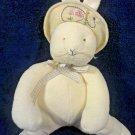 "Hallmark Bunnies by the Bay Bunny Rabbit Plush Bean Bag Yellow Cream Stuffed 12"""