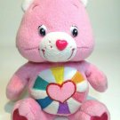"Care Bears Pink HOPEFUL HEART Teddy Bear Soft Plush Stuffed Animal 8"" Doll Toy"
