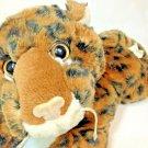 "Leopard Plush Cheetah Cub Baby Rattle Stuffed Animal Laying 12"" Cat Main Joy"