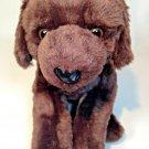 "Animal Alley Chocolate Brown Lab Labrador Puppy Dog Plush Stuffed 12"" Toy"