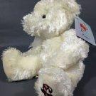 "Russ Candie Plush White Teddy Bear Christmas Bear Candy Cane 8"" NWT"