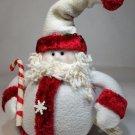 "Dan Dee Santa Claus Holiday Christmas Stuffed Plush Decor Figure Candy Cane 8"""